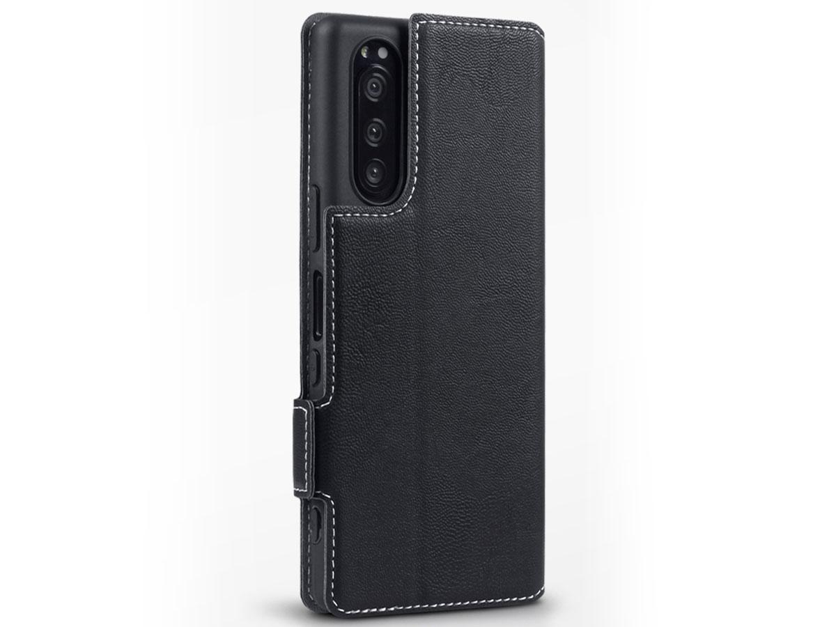 CaseBoutique Slim Bookcase Zwart - Sony Xperia 5 hoesje