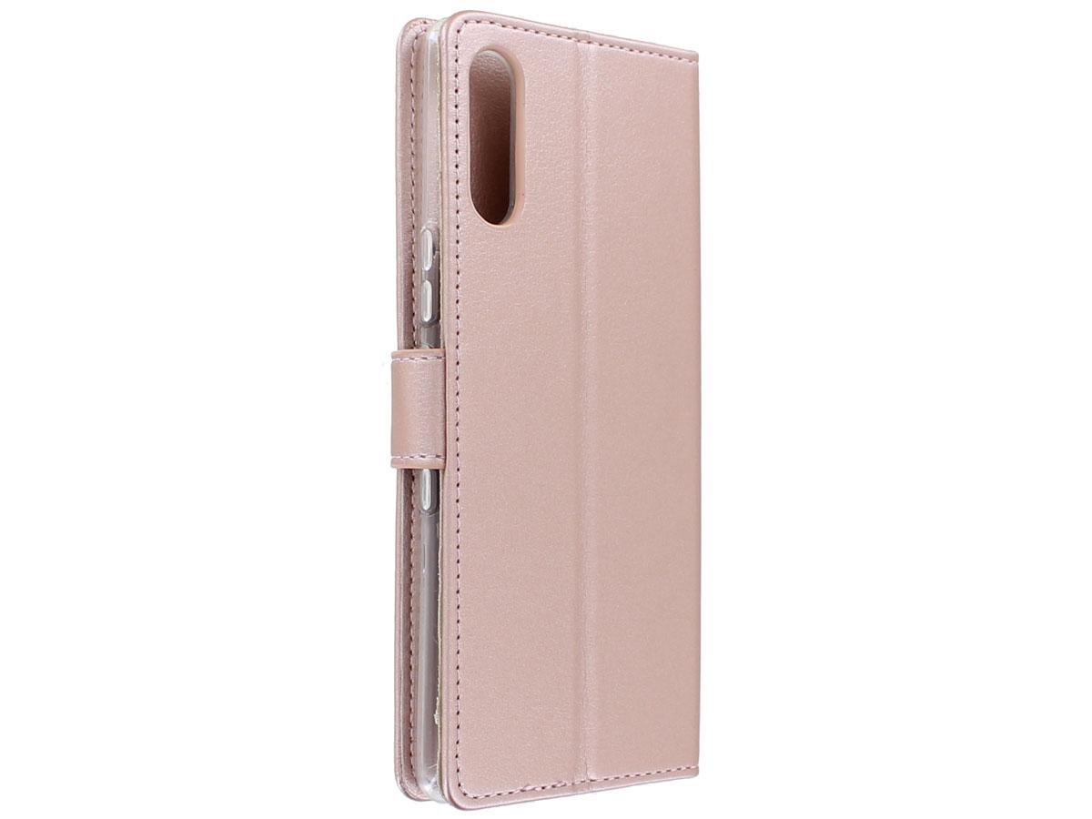 Bookcase Mapje Rosé Goud - Sony Xperia L4 hoesje