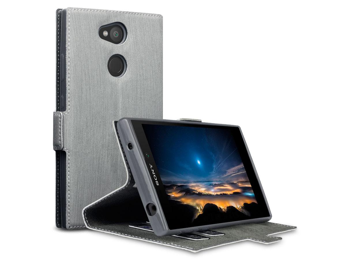 Covert Slimfit Bookcase Grijs - Sony Xperia L2 hoesje
