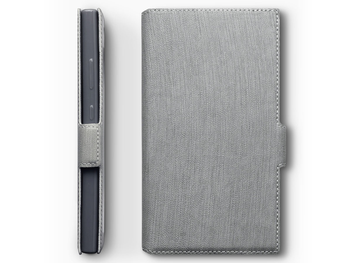 Covert Slimfit Bookcase Grijs - Sony Xperia L2 hoesje