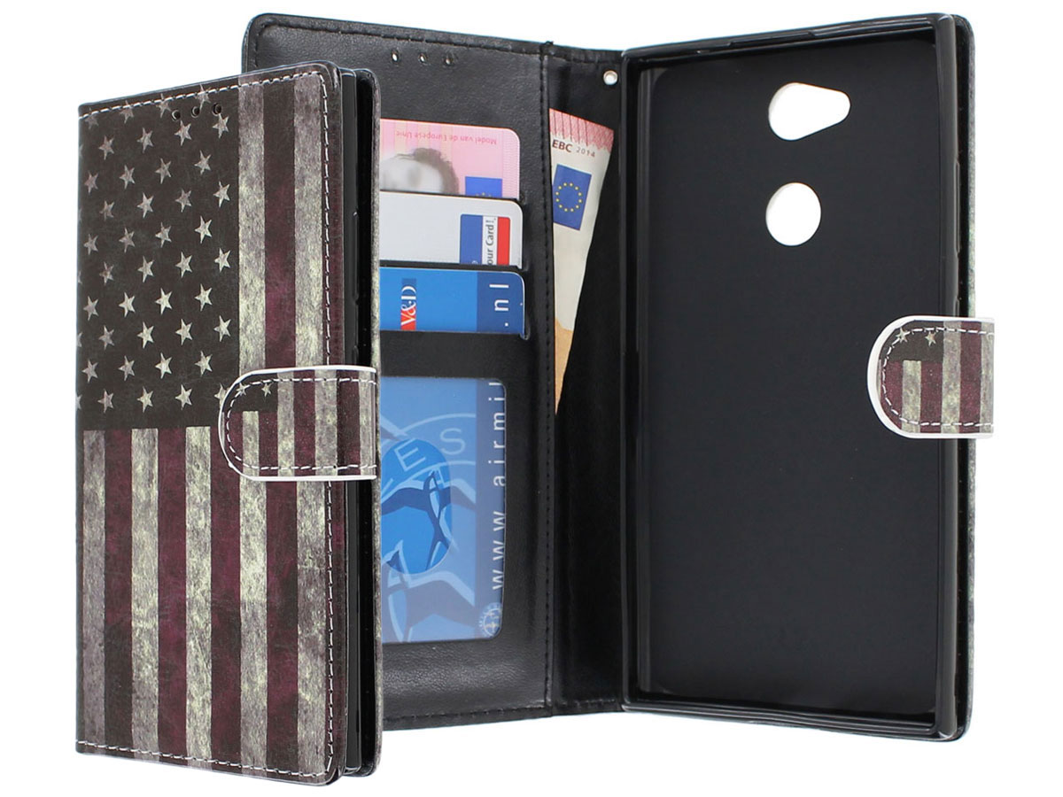 Amerikaanse Vlag Bookcase - Sony Xperia L2 hoesje
