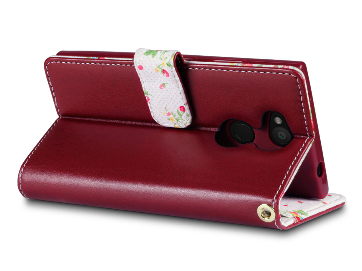 CaseBoutique Flower Bookcase - Sony Xperia L2 hoesje
