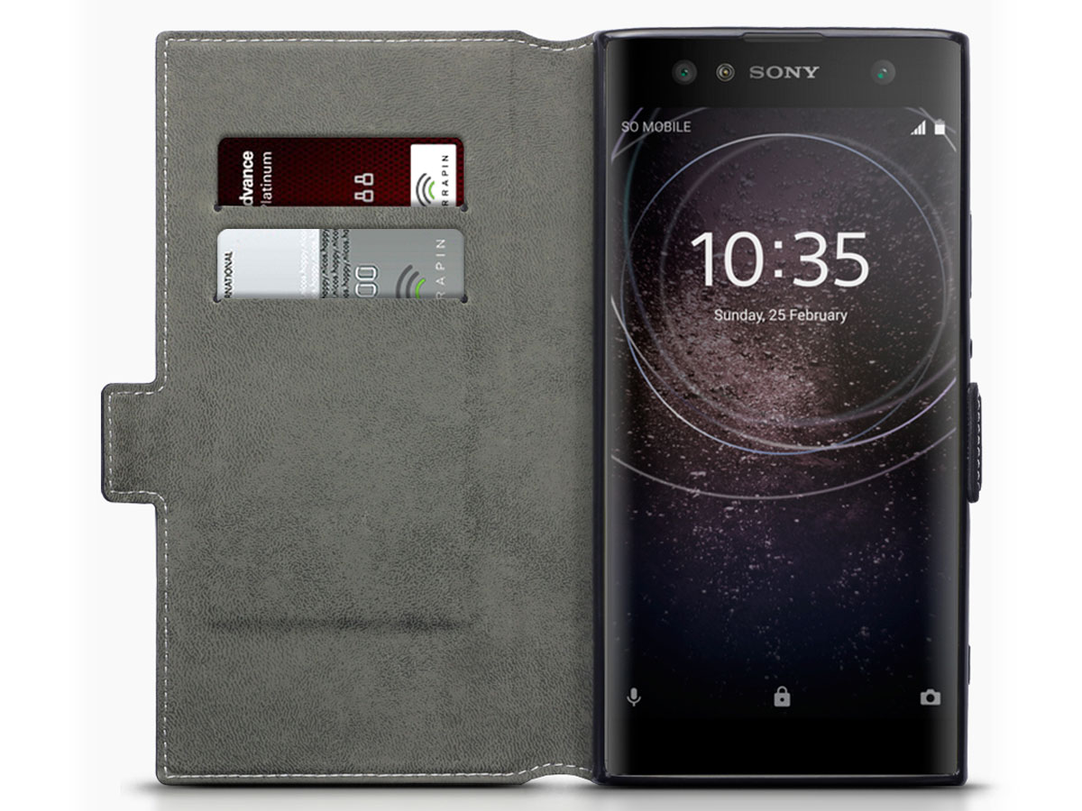 Covert Slim Book Zwart - Sony Xperia XA2 Ultra hoesje