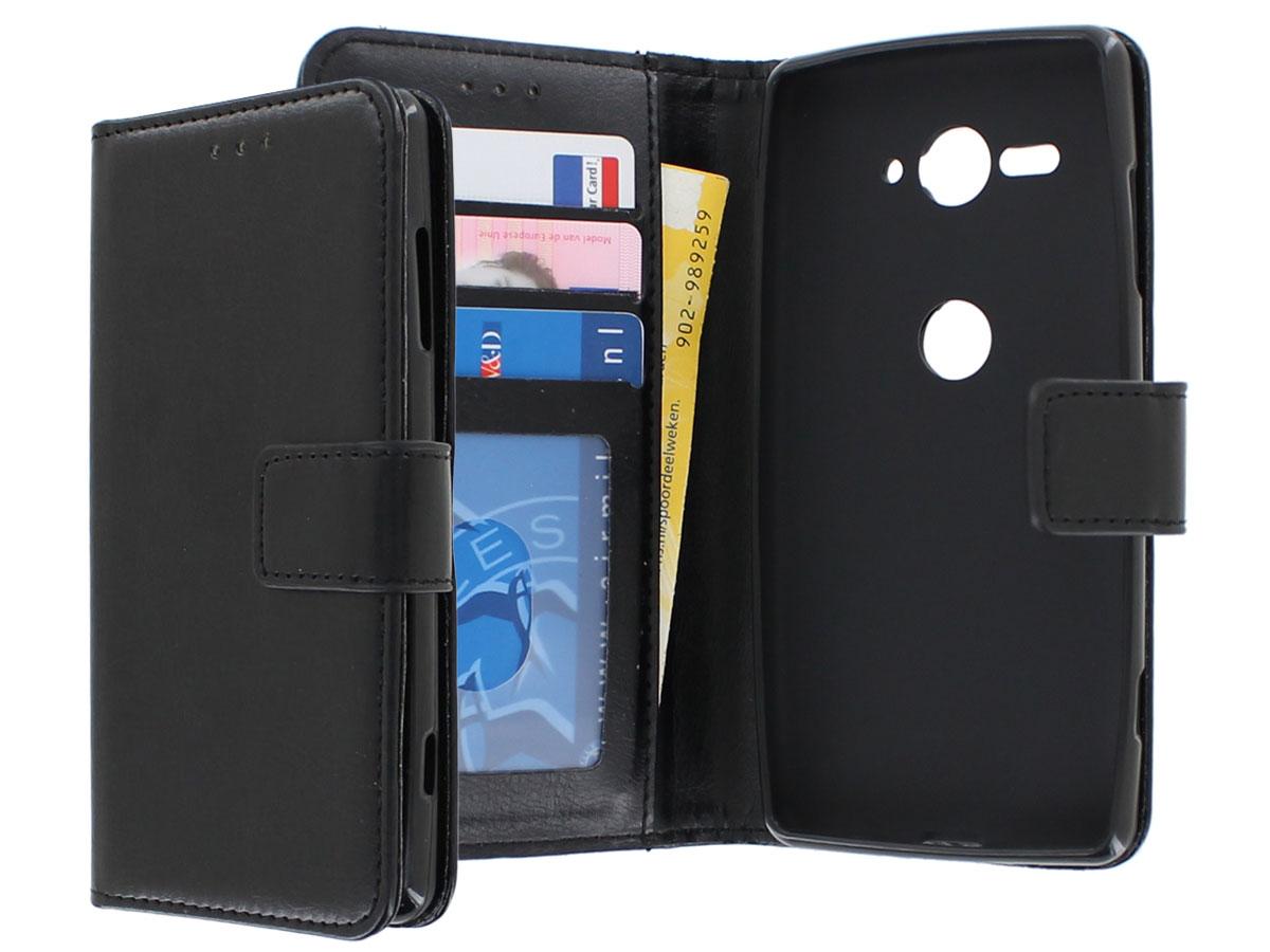 Bookcase Wallet Zwart Sony Xperia Xz2 Compact Hoesje