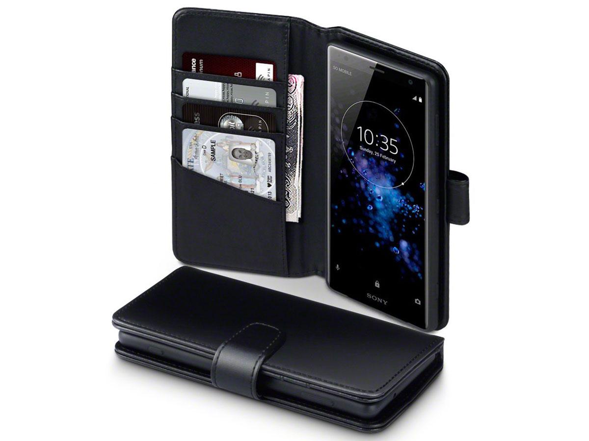 Sony Xperia Xz2 Hoesje Van Leer Kopen Zwart Leren Case