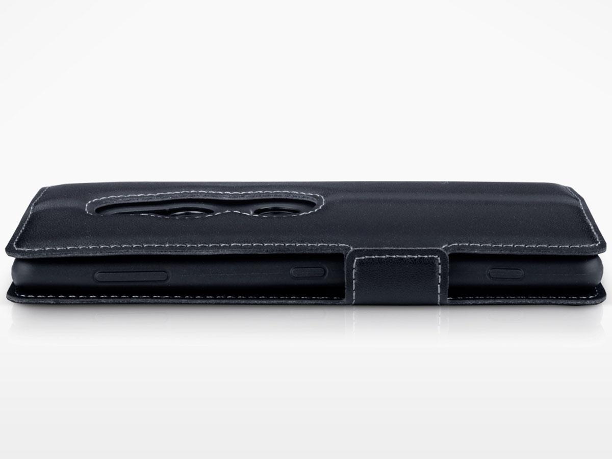 Slimfit Sony Xperia Xz2 Hoesje Van Echt Leer Zwart