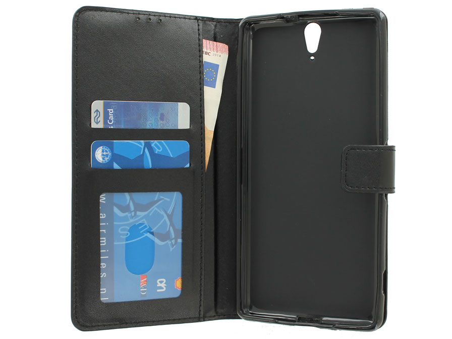 Wallet Book Case - Sony Xperia C5 Ultra hoesje (Zwart)