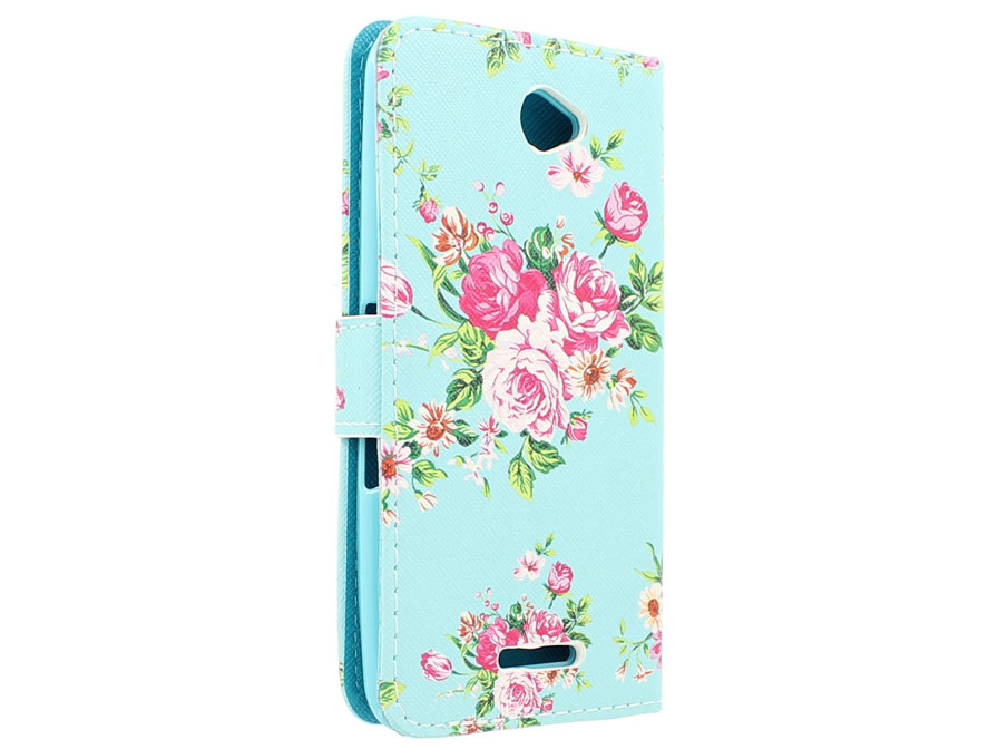 Flower Book Case Hoesje voor Sony Xperia E4