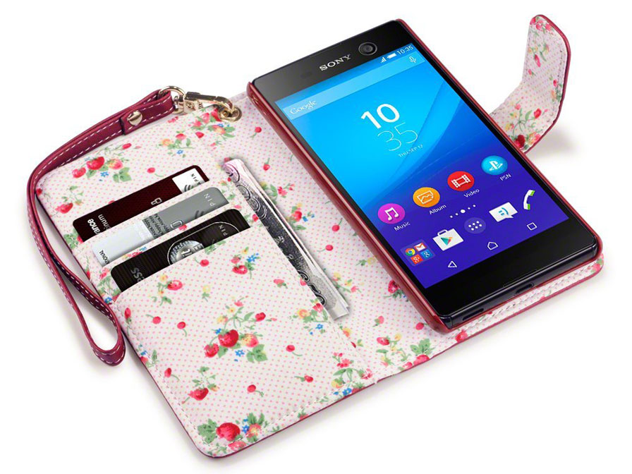 CaseBoutique Flower Case - Sony Xperia M5 hoesje