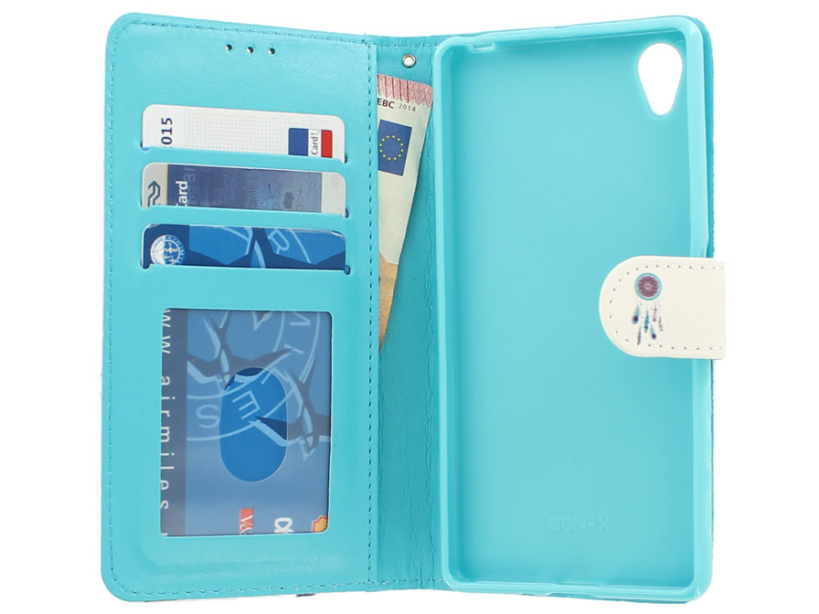 Dreamcatcher Bookcase - Sony Xperia X hoesje