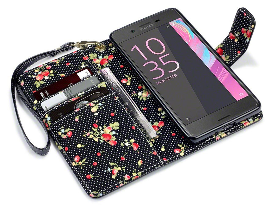 CaseBoutique Flower Bookcase - Sony Xperia X hoesje