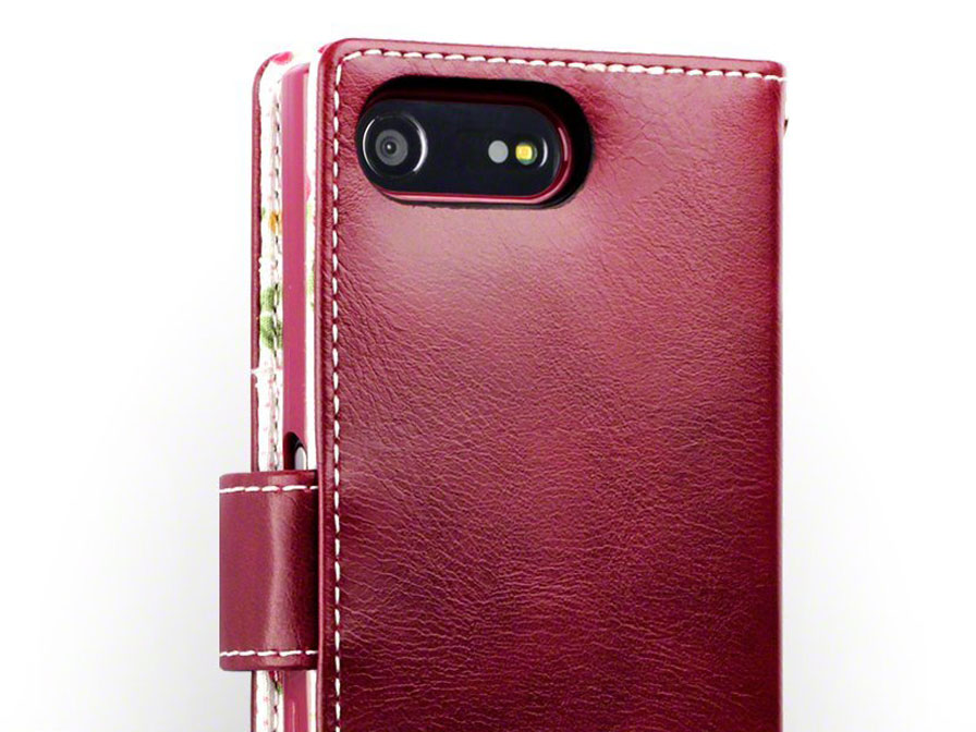 CaseBoutique Flower Bookcase - Sony Xperia X Compact hoesje