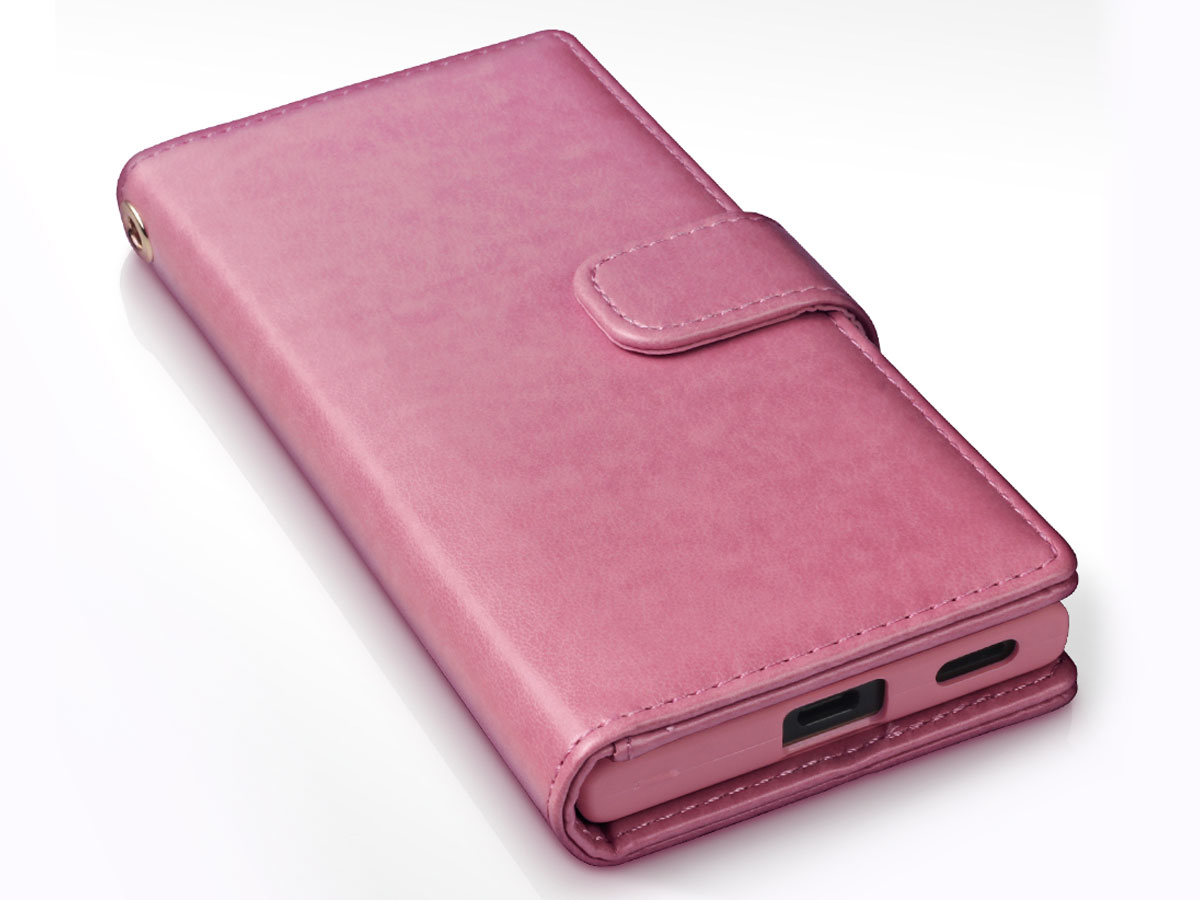 CaseBoutique Bookcase Pink Rose - Sony Xperia XA1 Hoesje