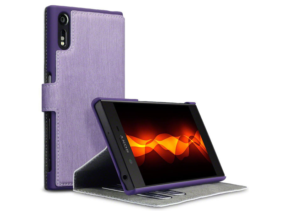 Covert UltraSlim Bookcase - Sony Xperia XZ / XZs hoesje Paars