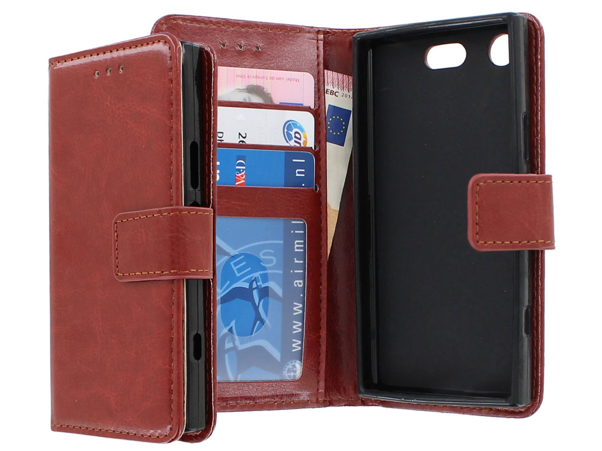 Bookcase Wallet Bruin - Sony Xperia XZ1 Compact hoesje