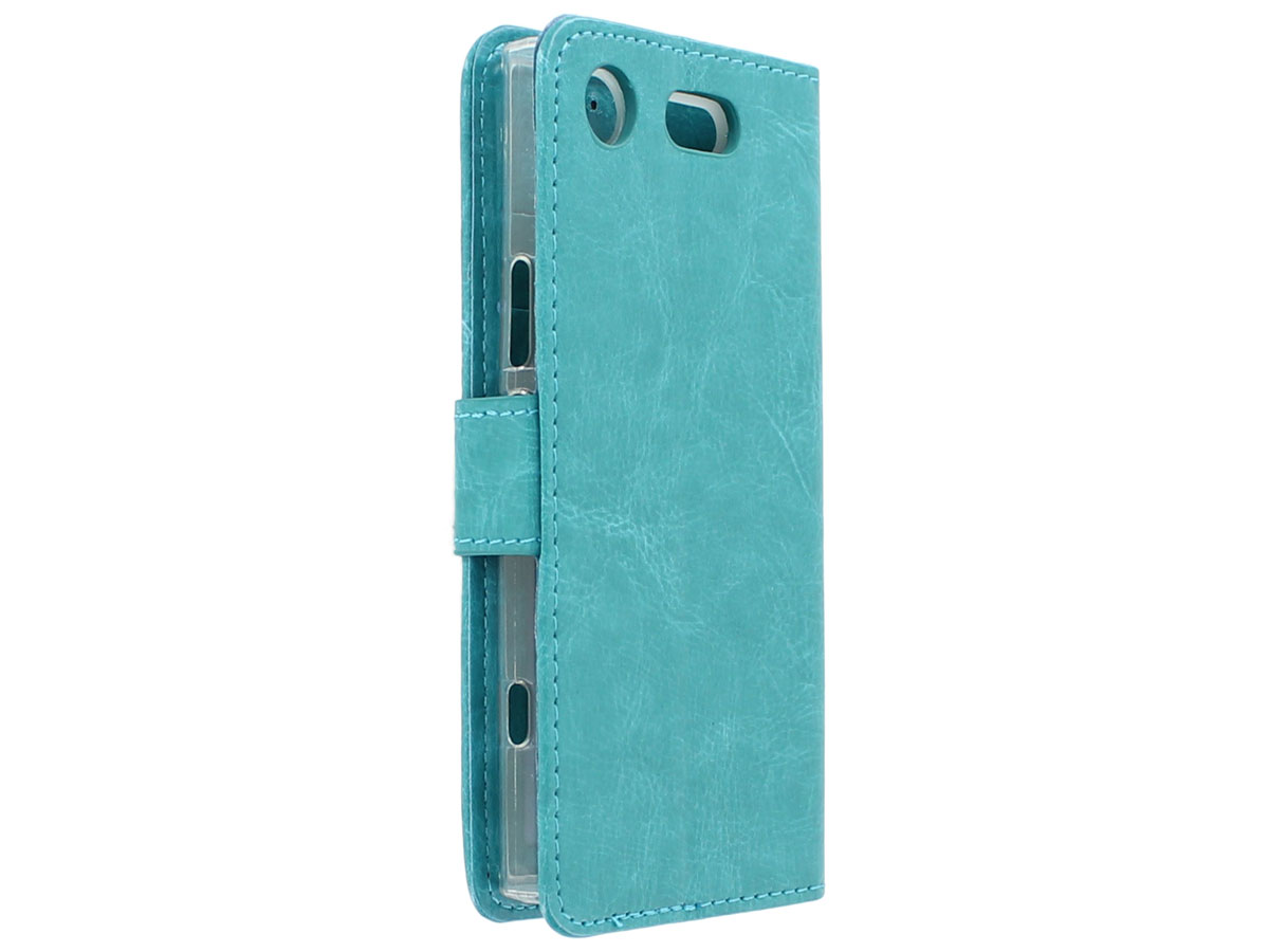 Bookcase Turquoise - Sony Xperia XZ1 Compact hoesje