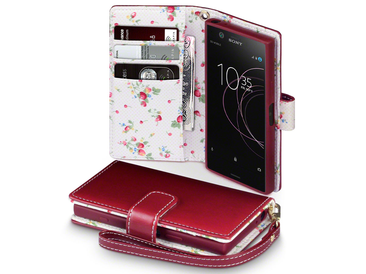 CaseBoutique Flower Book - Sony Xperia XZ1 Compact Hoesje
