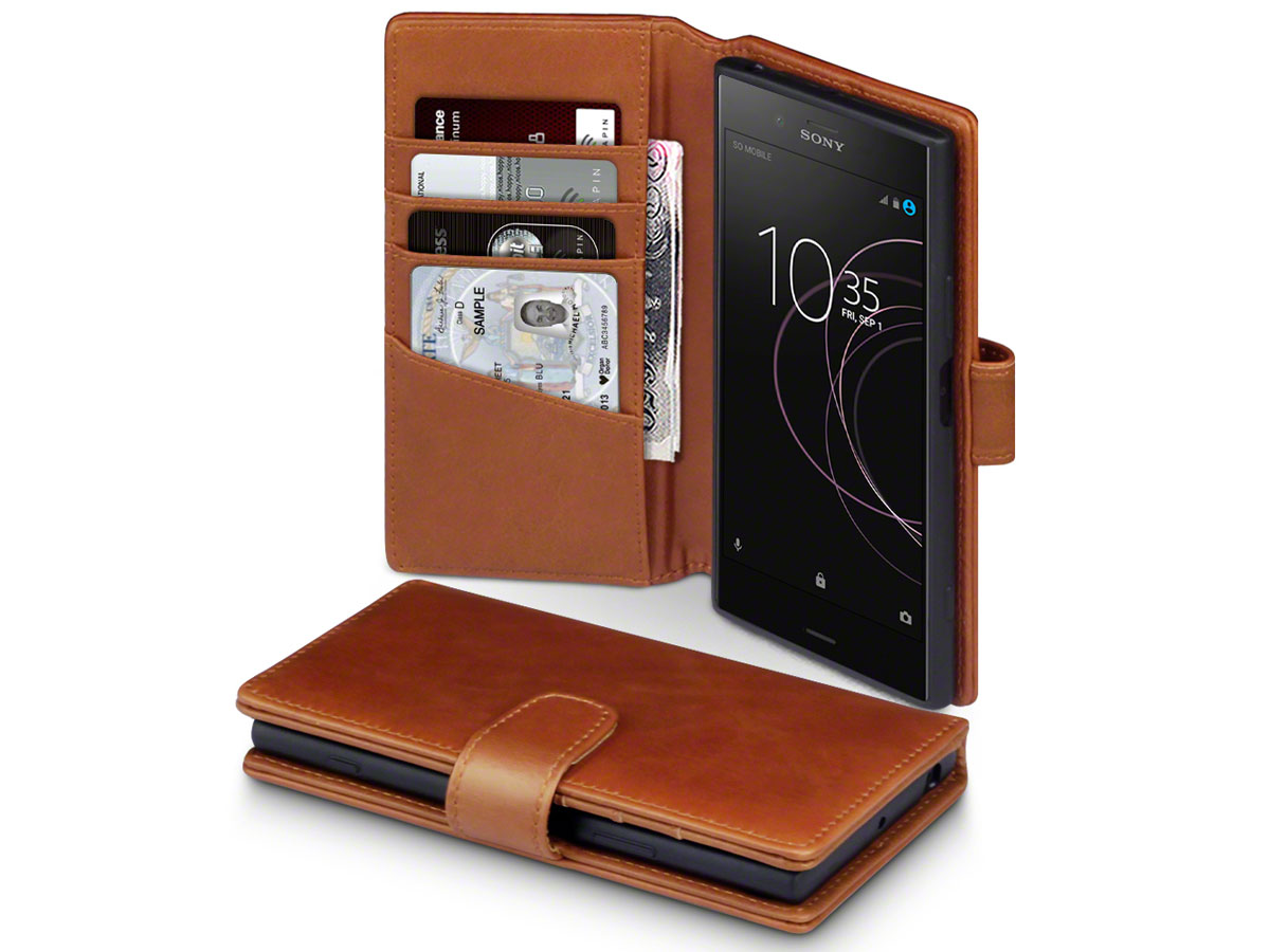 CaseBoutique Leather Case Cognac - Sony Xperia XZ1 Hoesje