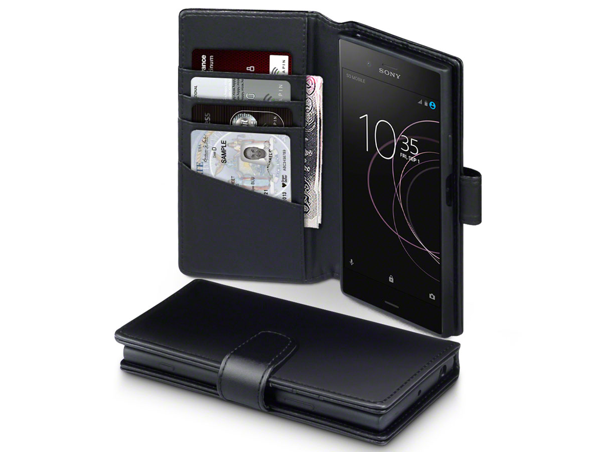 CaseBoutique Leather Case Zwart - Sony Xperia XZ1 Hoesje