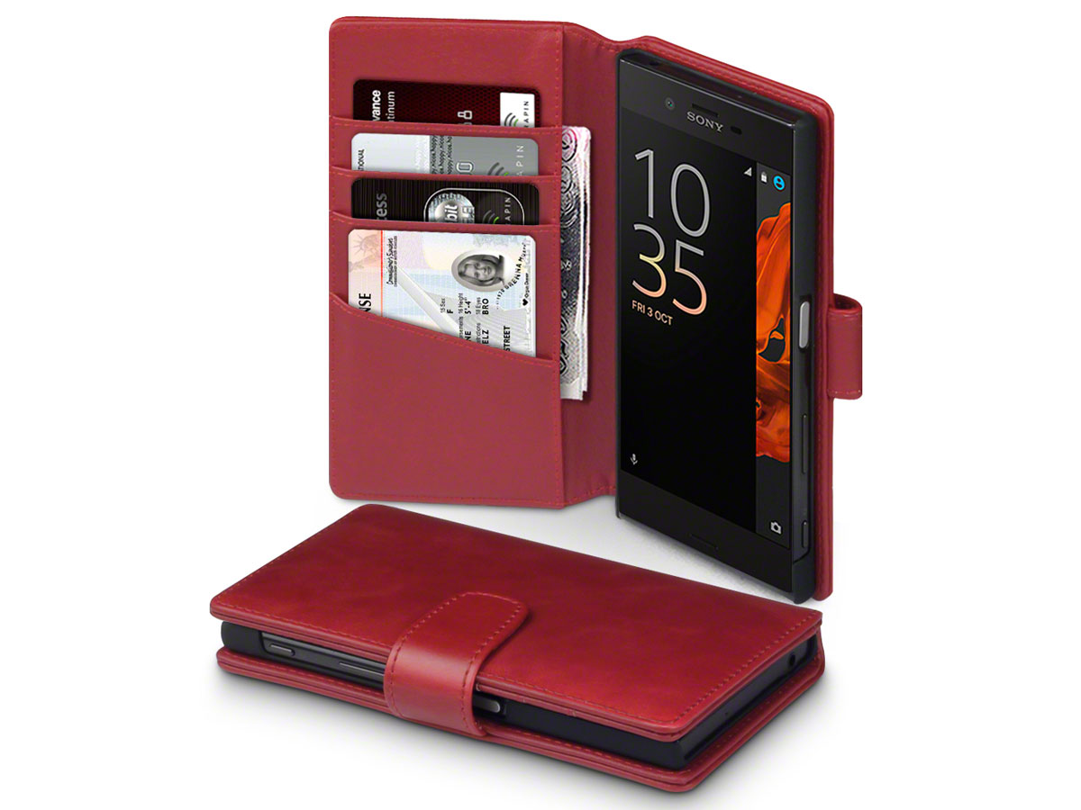 CaseBoutique Bookcase Rood Leer - Sony Xperia XZ/XZs hoesje
