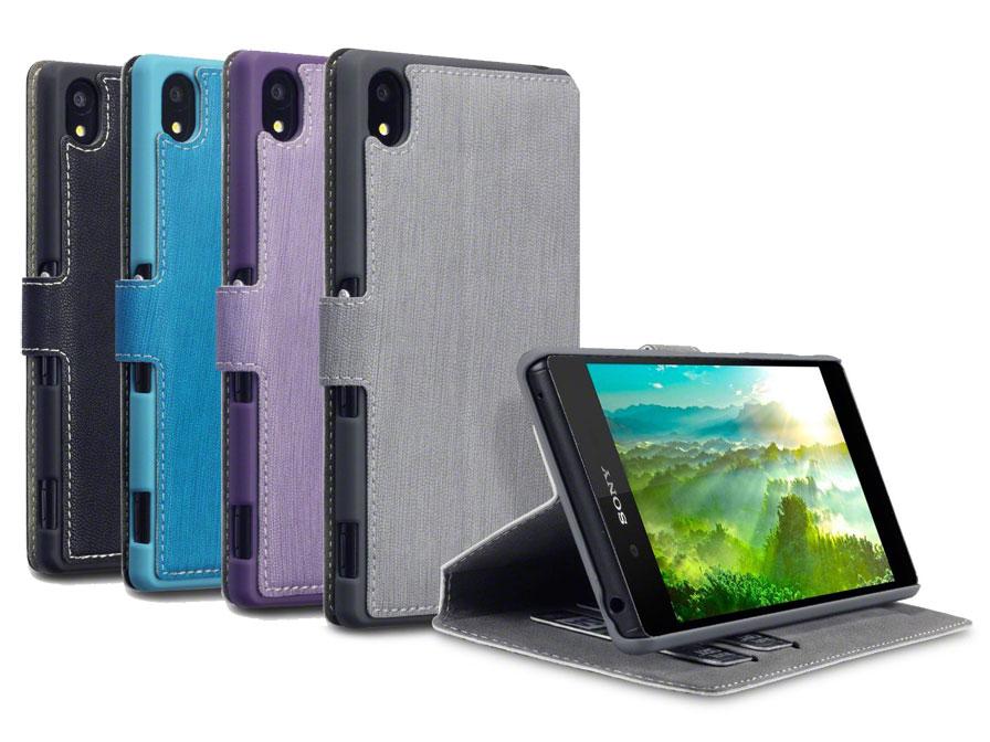 Covert UltraSlim Book Case - Hoesje voor Sony Xperia Z3 Plus Paars