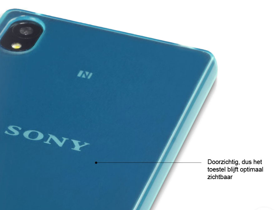 CaseBoutique TPU Soft Case - Hoesje voor Sony Xperia Z3 Plus