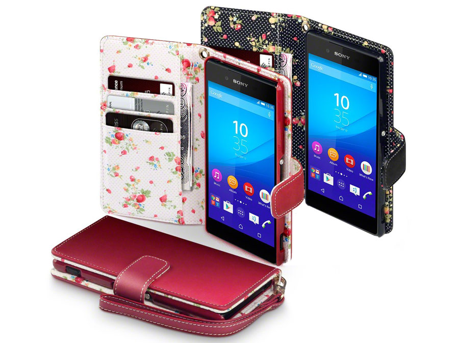 CaseBoutique Flower Wallet Case - Sony Xperia Z3 Plus hoesje