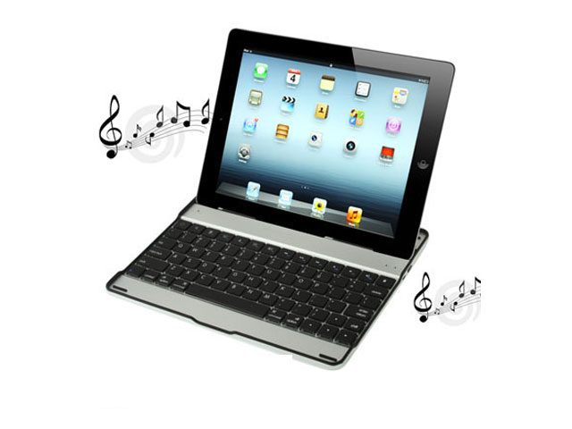 Bluetooth Wireless Keyboard & Speaker Slim Case voor iPad 2, 3 & 4