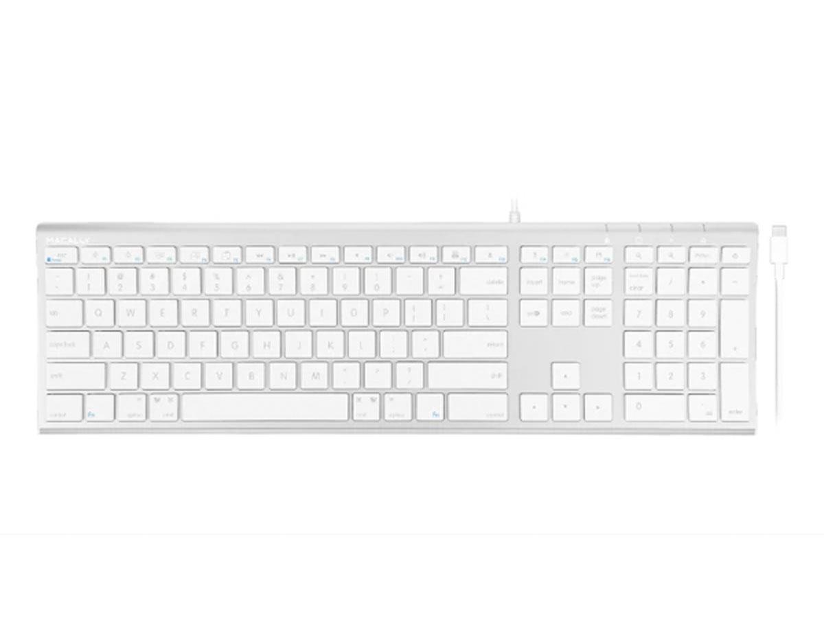 MacAlly USB-C Toetsenbord Apple Keyboard - QWERTY - UCACEKEYA Zilver