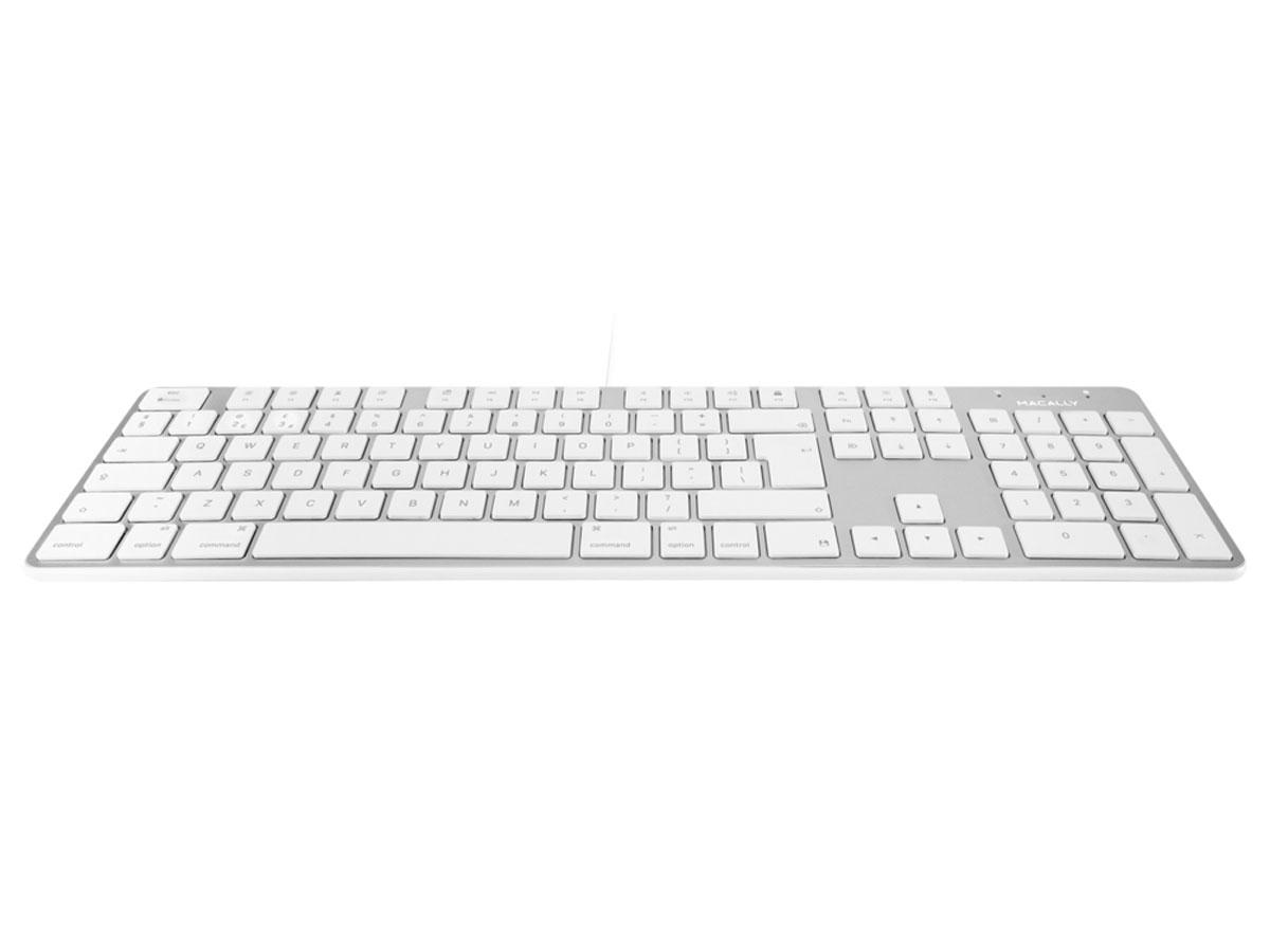 MacAlly Wired Apple Keyboard - QWERTY - SLIMKEYPROA-UK Zilver
