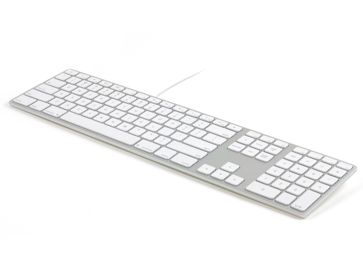 Matias RGB Wired Aluminum Keyboard AZERTY (Silver) Zilver