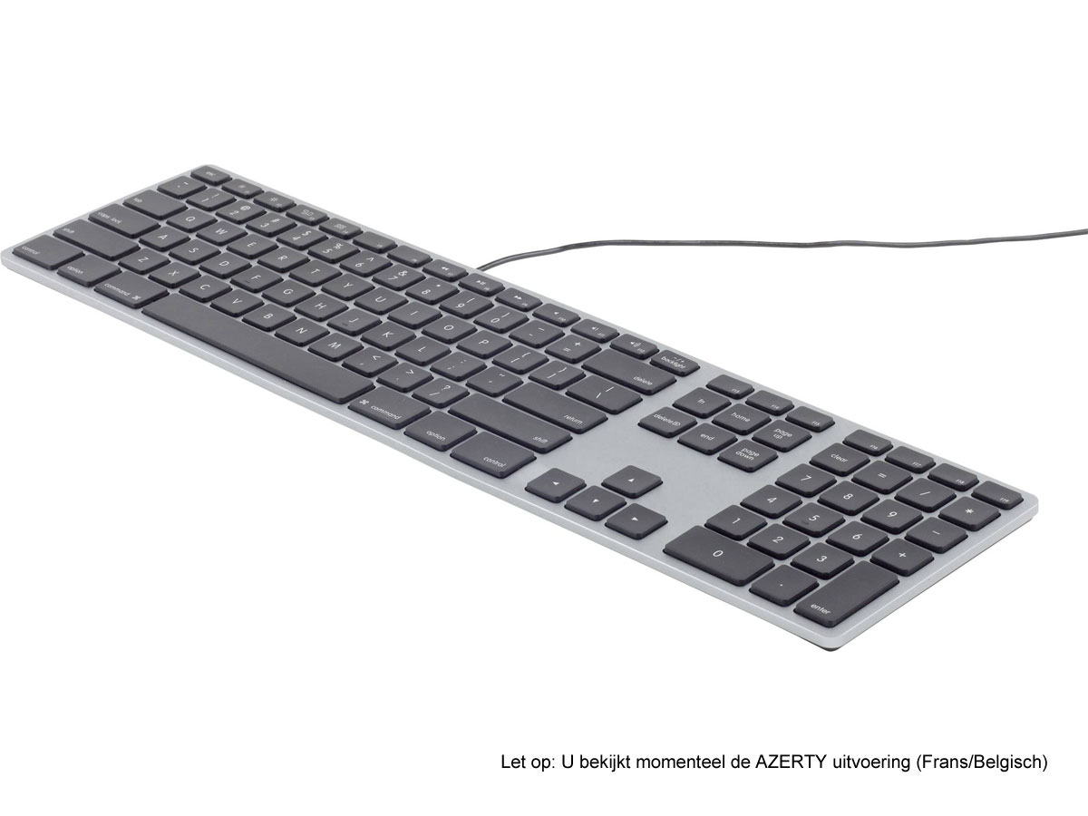 Matias Wired Aluminum Keyboard AZERTY (Space Gray) Space Grey