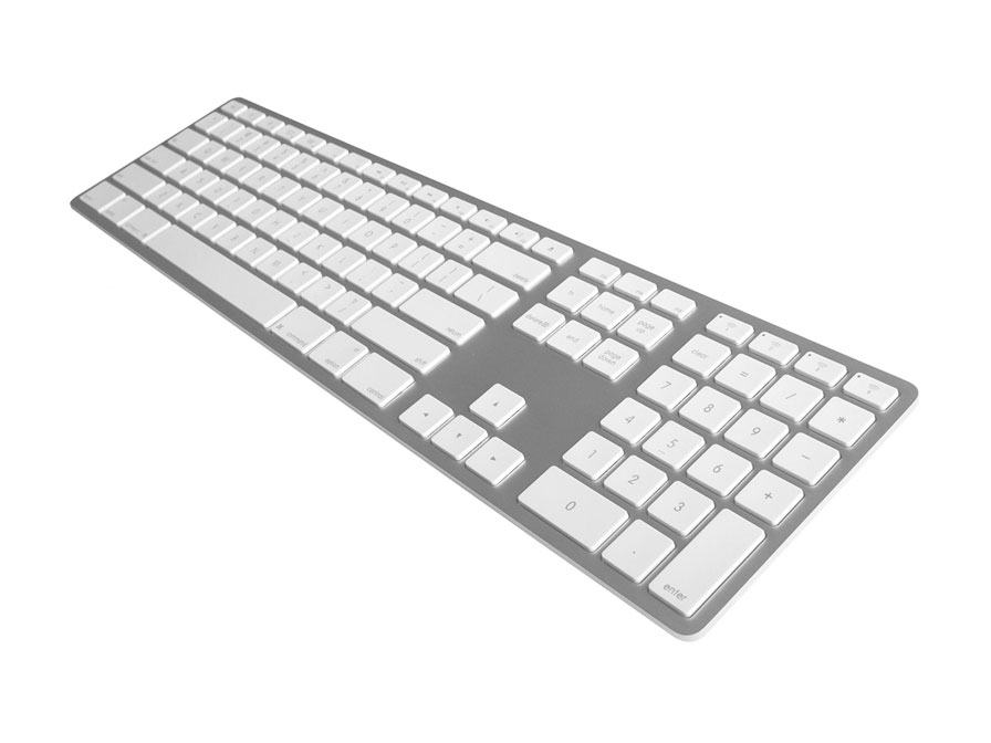 Matias Wireless Aluminum Keyboard AZERTY (Silver) Zilver