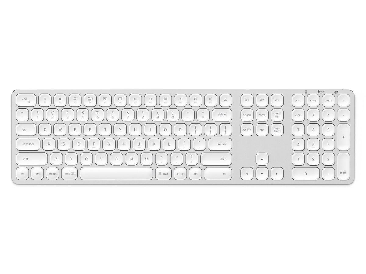 Satechi Aluminium Bluetooth Keyboard QWERTY (Silver) Zilver