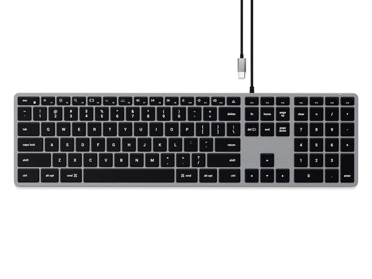 Satechi Slim W3 Wired Backlit Keyboard - QWERTY
