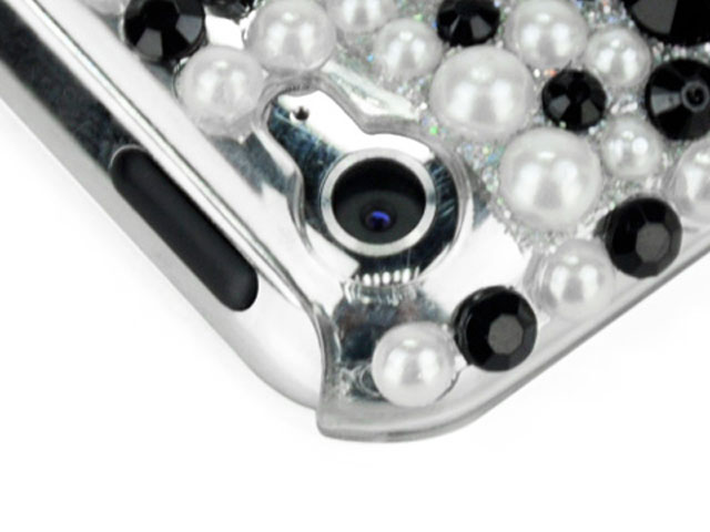 Black & White Pearl Back Case Hoes iPod touch 4G