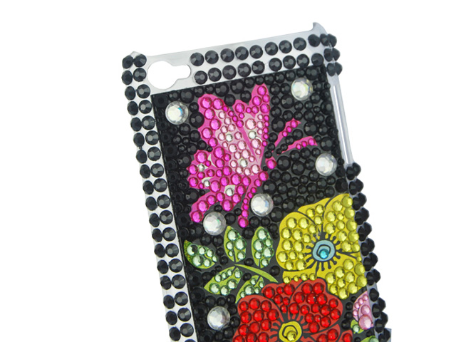 Butterfly Flower Case Hoes voor iPod touch 4G
