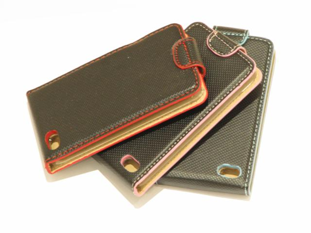 Colored Leather Bottomflip Case Hoes iPod touch 4G