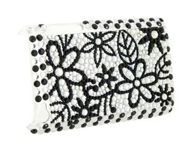 Diamond Back Case B & W Flowers voor iPod Touch 4G