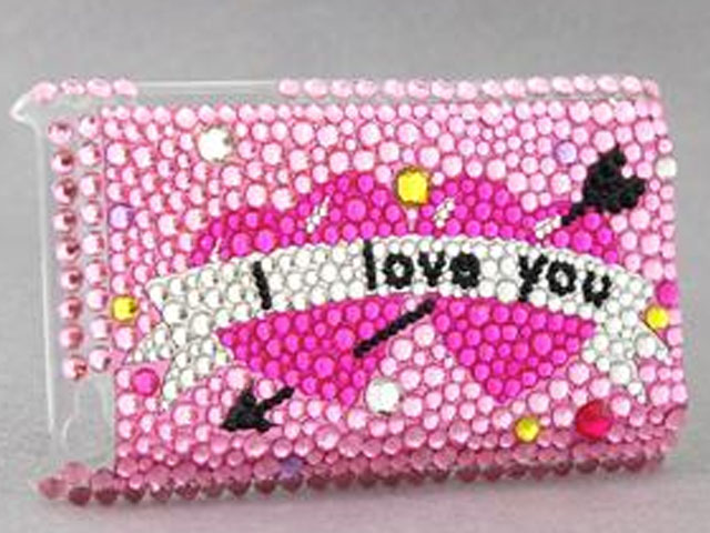 Diamond Back Case 'I Love You' voor iPod Touch 4G