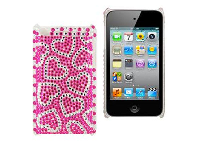 Diamond Back Case 'Pink Hearts' voor iPod Touch 4G