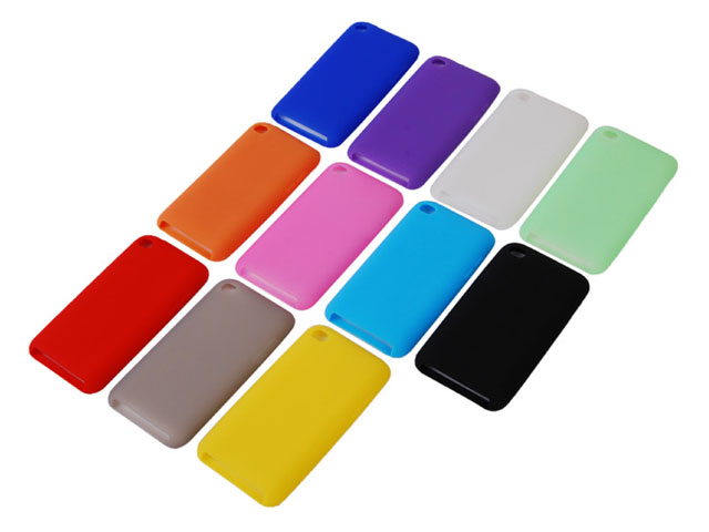 Color Series Silicone Skin Hoes voor iPod Touch 4G