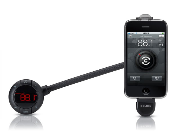 Belkin TuneBase FM Live GPS Assisted Transmitter voor iPod/iPhone
