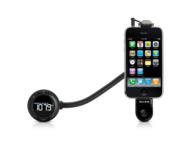 Belkin TuneBase FM Transmitter Handsfree Kit voor iPod/iPhone