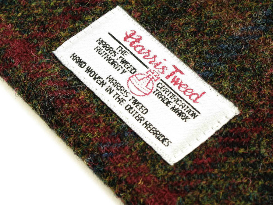 Officiële Harris Tweed Plaid Green Tablet Sleeve (10 inch)