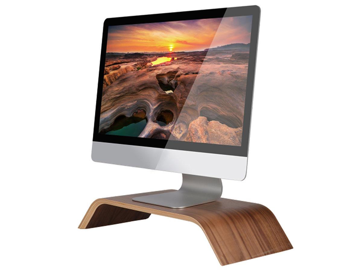 Samdi Houten iMac Stand Beeldschermverhoger - Walnoot