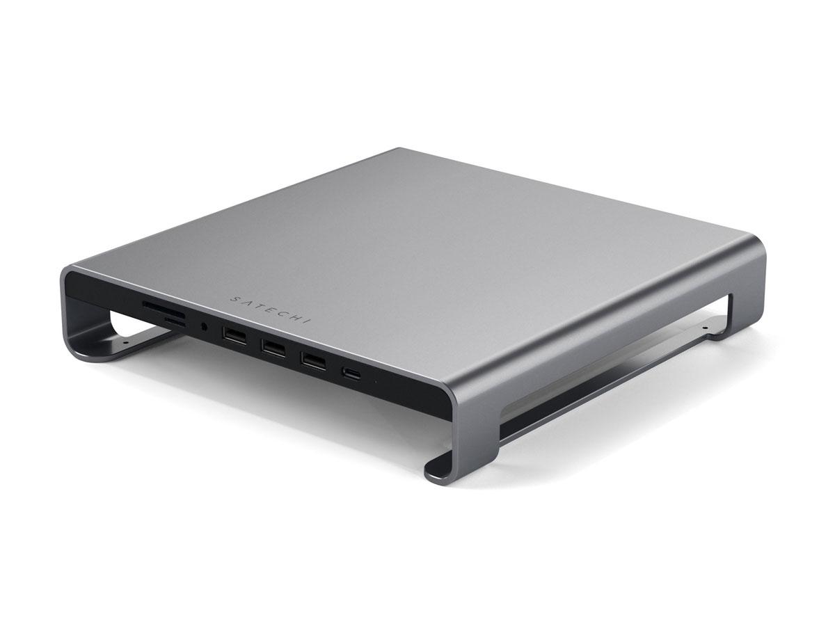 Satechi Aluminium iMac Stand met USB Hub - Space Grey