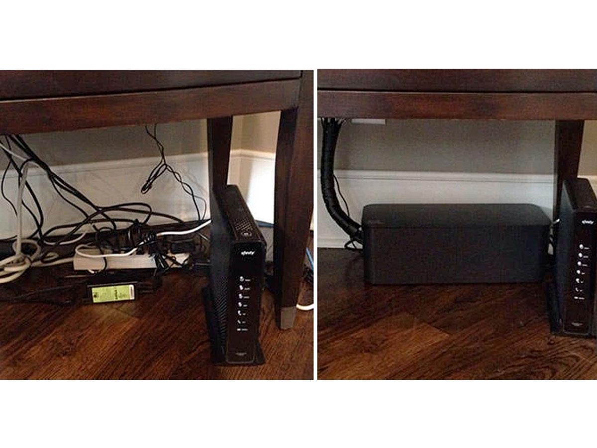 BlueLounge CableBox Cable Organiser Zwart - Kabels Wegwerken