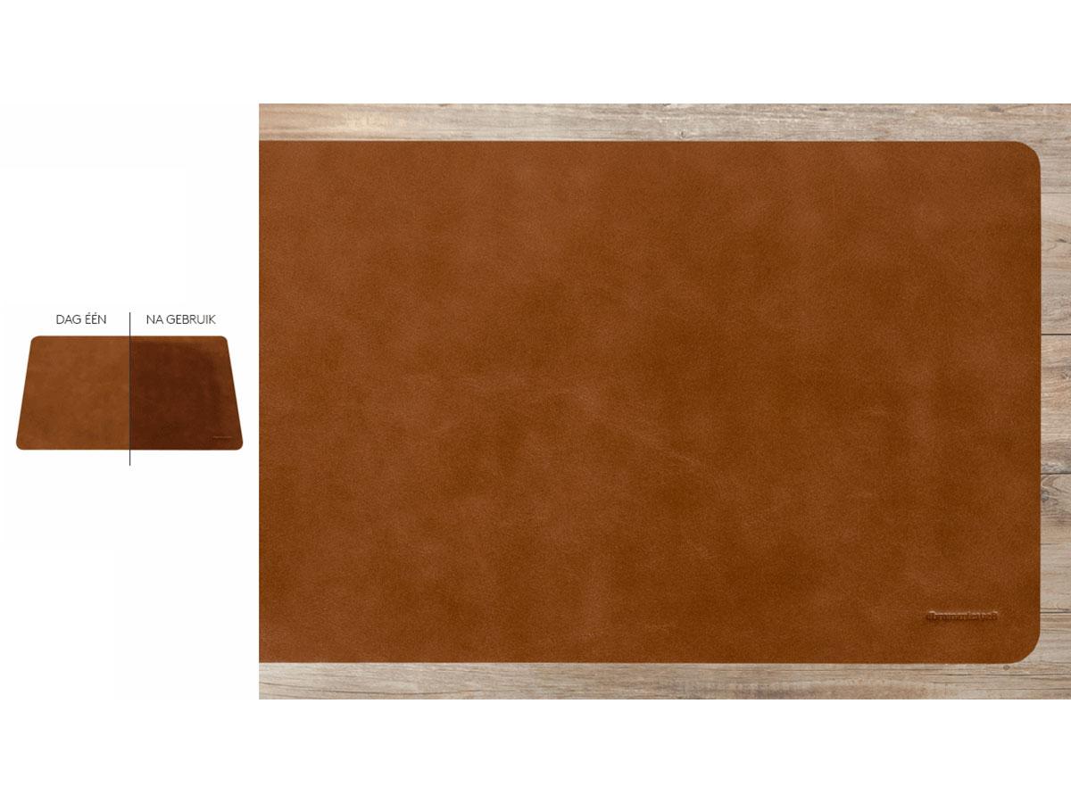 dbramante1928 Desk Mat Tan Small - Leren Bureauonderlegger