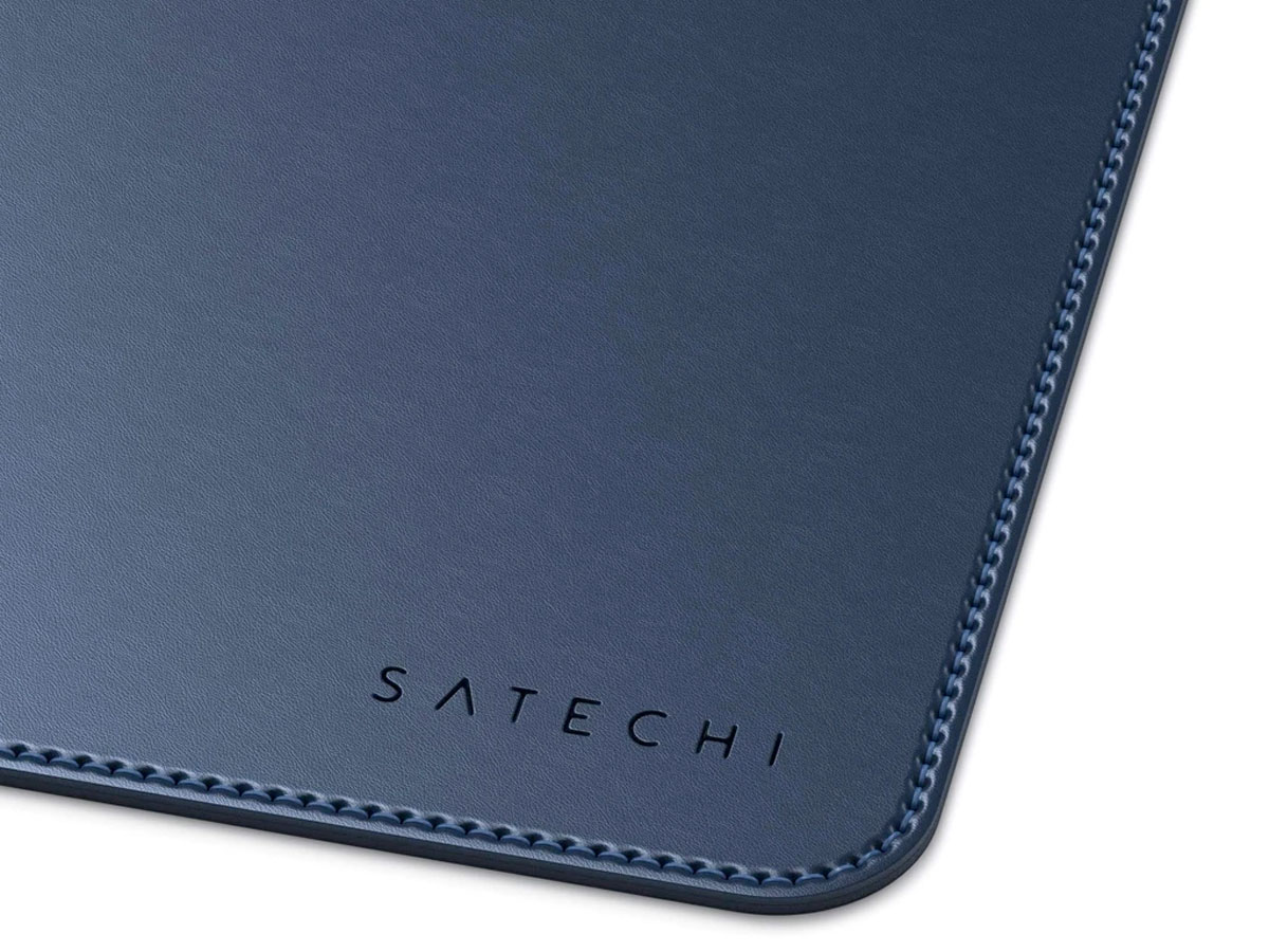 Satechi Eco-Leather Deskmate Navy - Bureau Onderlegger Computer Mat